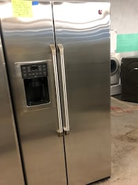 GE café stainless steal counter depth side by side doors fridge  Baltimore, 21223
