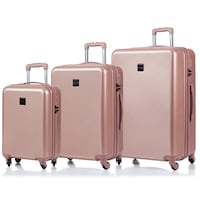 Rose gold luggage set of 3 suitcases expandable with tsa lock Montréal, H2G