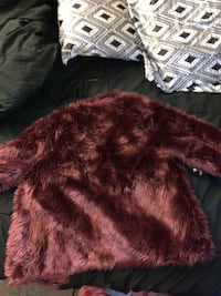 Burgundy Fur Coat Indian Head, 20640