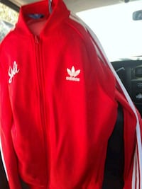 red and white Adidas zip-up jacket Los Angeles, 90065
