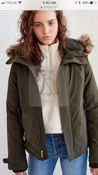 TNA Vail short parka - camouflage print ( seen in last photo) size - large Toronto, M5A 4G6