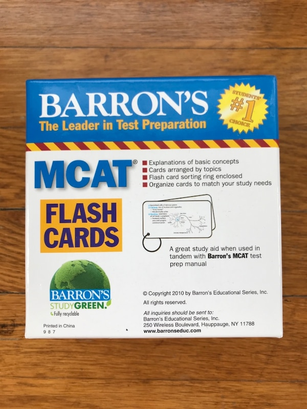 Used Mcat Flashcards For Sale In Cleveland Heights Letgo