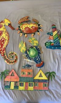 Painted Metal Wall Decorations