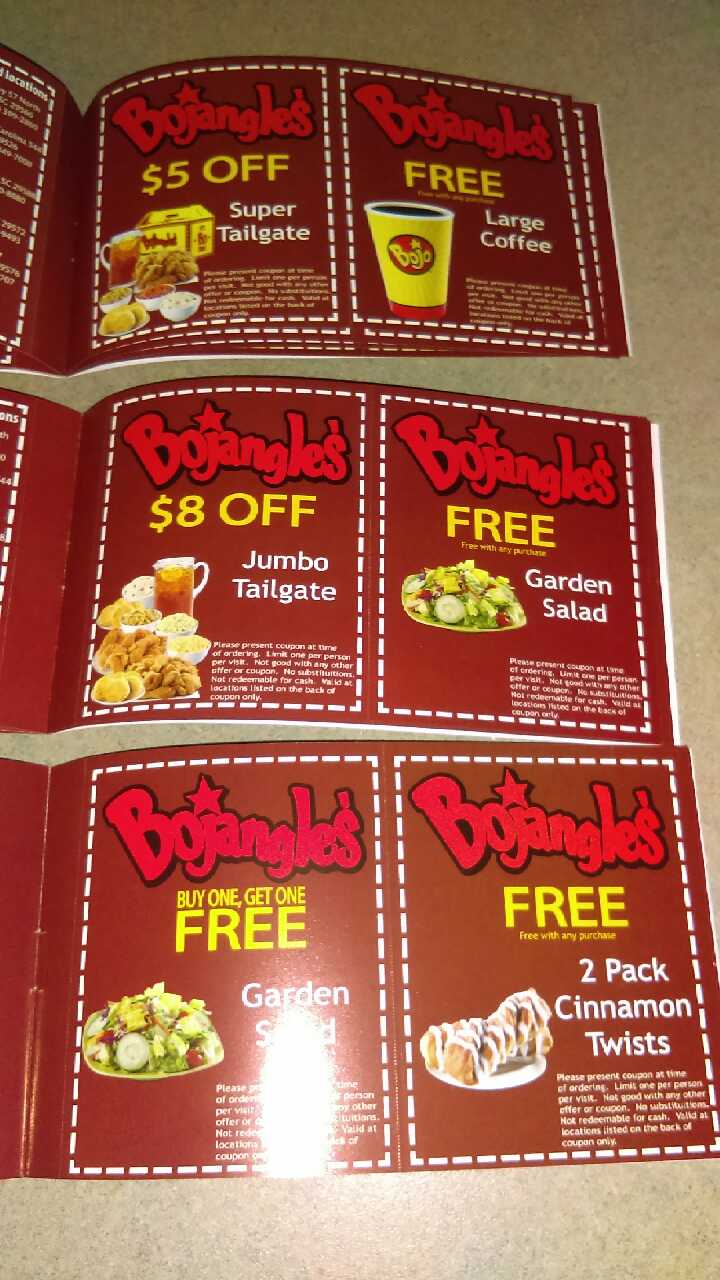 photograph about Bojangles Printable Coupons identify BOJANGLES Discount codes TAILGATE - Fundraising Bojangles coupon guide