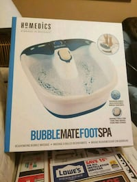 white and blue Homedics foot spa box Pickering, L1V 2Z1