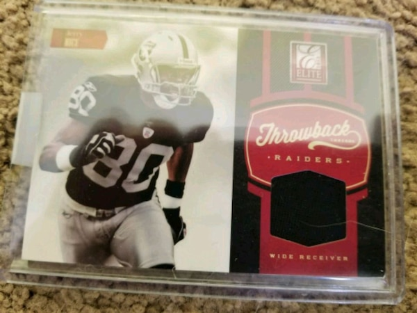 Brilliant Used Jerry Rice Oakland Raiders Jersey Card 167 199 For Sale In Funny Birthday Cards Online Inifofree Goldxyz
