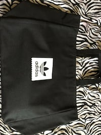 black and white Adidas duffel bag Ladera Heights