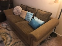 Brown fabric 2-seat sofa Birmingham, 35242