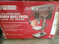 Dril press,new in box,5 speed,extrablight 60$ firm North Port, 34287