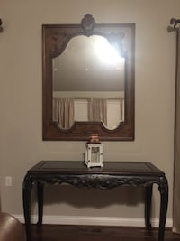 Brown wooden framed wall mirror Wilmore, 40356
