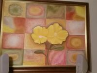 pink and yellow flowers painting New York, 10023