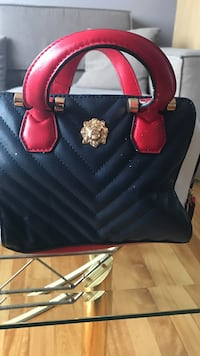 Brand New Aldo red and bleu leather tote bag
