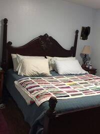 King size bed/ new mattress/ bunkie boards/2 night stands/chest drawer Charlotte, 28209