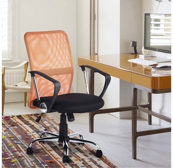 Incredible Office Chair For Adult Tilt Function Swivel Computer Desk Arm Chair Adjustable Height Orange For Home Office Ocoug Best Dining Table And Chair Ideas Images Ocougorg