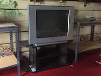 gray CRT TV with stand Falls Church, 22046