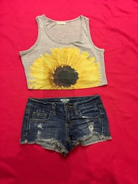 Mossimo shorts. Crop top sold