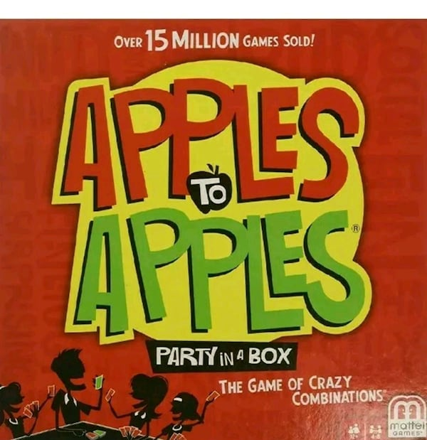 (NEW) APPLE TO APPLES Party In A Box Board Game  63236e23-322e-4a81-9052-4a973808d101