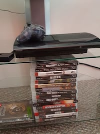 PS3 and 16 games for sale.  Richmond, V6Y 3H2