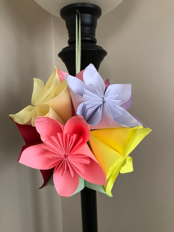 Used Origami Flower Ball For Sale In Winthrop Letgo