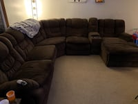 Brown Sectional Cicero, 13039