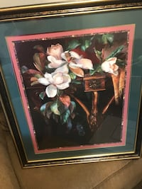 White magnolias painting and brown frame Bowling Green, 42101