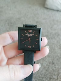 Olivia Burton London Black Leather Watch 816 mi