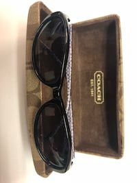 Women's Coach Kristy S603 Black Sunglasses Orig Case and Cleaning cloth 100% Authentic. No scratches or nicks. Like New Condition Chantilly, 20151