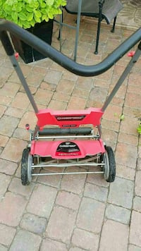 gray and red Troy-Bilt reel mower Oakville, L6H 6K7