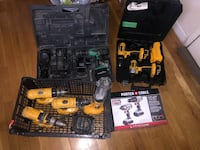 Power tool impact and drill drivers, flashlights and batteries lot New York, 11368
