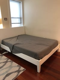 White IKEA Bed frame - Like New - Queen Size Washington, 20037
