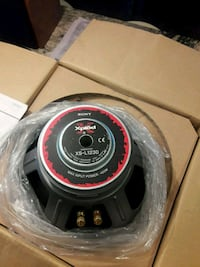 black and red and black subwoofer speaker Hamilton Township, 08610