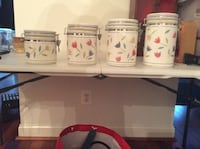 Very Nice Tulip Canisters Woodstock, 21163