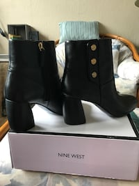 Black Nine West short boots, leather , 8 1/2 used but good condition. Norfolk, 23503