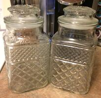 Glass Kitchen Canisters For Sale