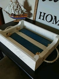 white and black wooden bed frame Lincoln, L0R 1B3