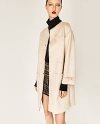 Faux Suede Coat - Blush - size Small Calgary, T2G