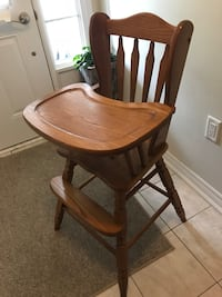 Solid wood antique baby high chair Caledon, L7C