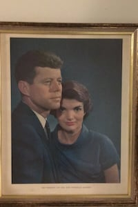 1961  J.F.K and Jackie O. Print in frame. Centreville, 20120