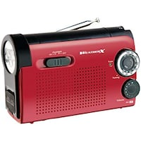 WEATHERX WR182R AM/ FM WEATHER BAND LES FLASHLIGHT RADIO Ajax