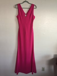 Hot pink gown dress open back Pomona, 91766