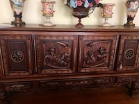 brown wooden 2-door cabinet Washington