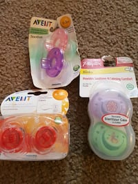 baby's three Philips Avent and Playtex 2-piece pacifier set packs Ottawa, K1B 4L3