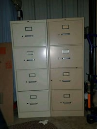 two gray metal 4-drawer filing cabinets Huntsville, 35803
