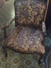 brown and black floral padded armchair Manassas, 20109