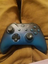 Blue and black Xbox one controller/with rechargable battery
