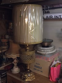 Vintage light with crystals