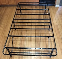 Black metal twin bed frame - easy store away  Hagerstown