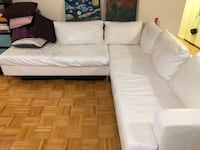 EQ3 White leather sectional couch! Toronto, M6B 1B1