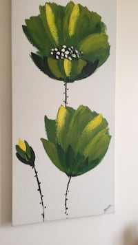 Green and yellow leaf plant painting condo  Toronto, M4Y 2G9