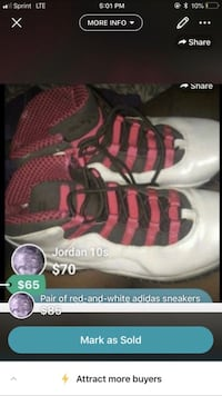 Pair of red-and-white nike shoes screenshot Arcade, 95821